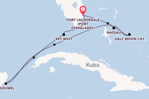 Wunderbare Kreuzfahrt über Cozumel ab Fort Lauderdale (Port Everglades)