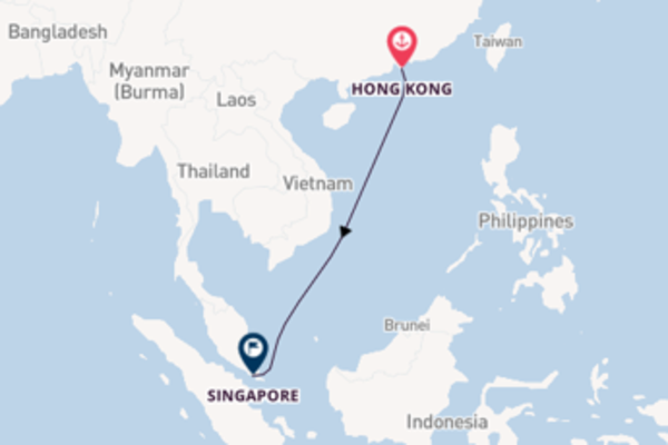 6 day sail to Singapore from Hong Kong