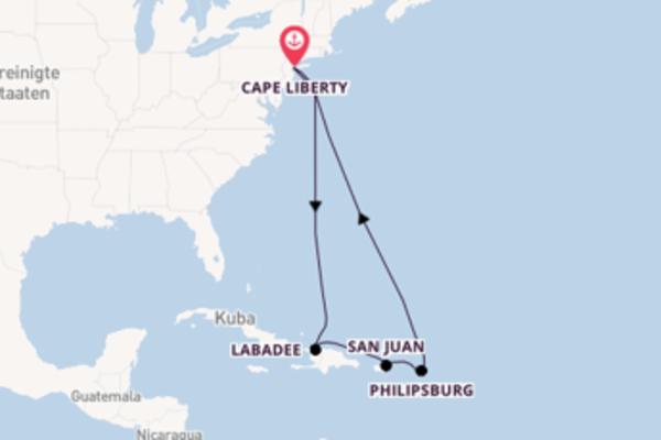 Traumhafte Kreuzfahrt über San Juan nach Cape Liberty