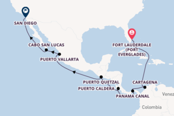 Cruising from Fort Lauderdale (Port Everglades) to San Diego
