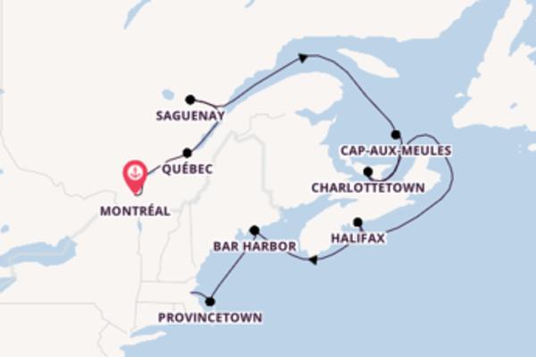 Douce balade de 12 jours au départ de Montréal