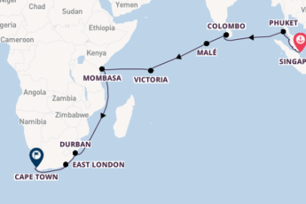 Expedition with Cruise and Maritime Voyages from Singapore