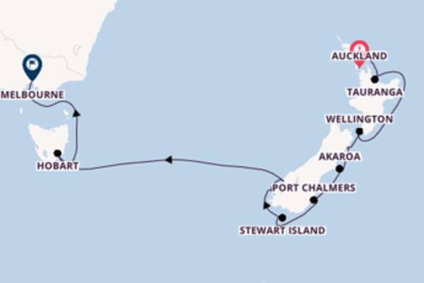 Sailing from Auckland to Melbourne