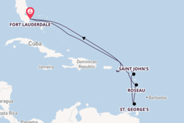 Fare rotta verso Saint John's a bordo di Celebrity Reflection