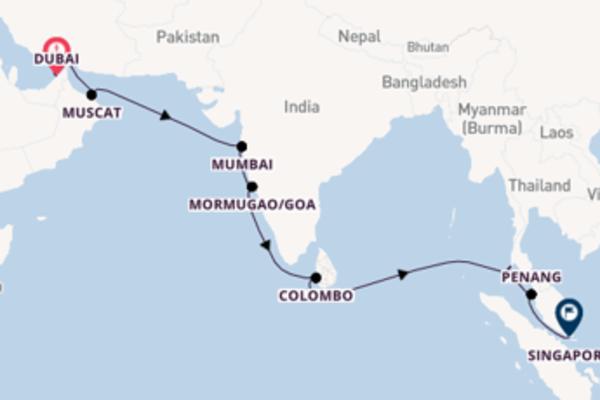 Da Dubai a Singapore passando per Mormugao/Goa in 16 giorni