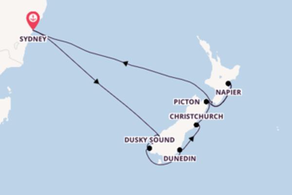 12-daagse cruise met de Ovation of the Seas® vanuit Sydney