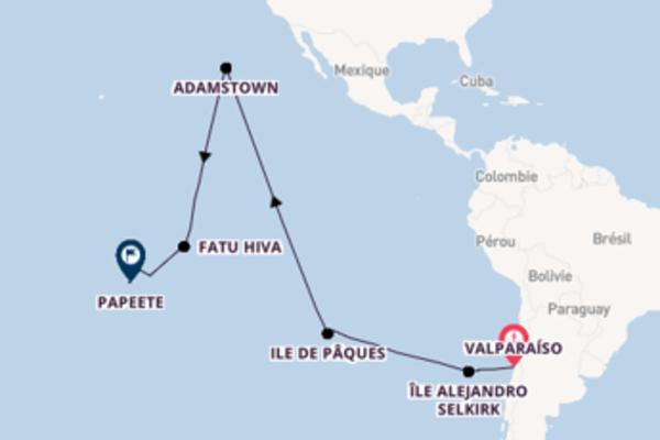 Île Robinson Crusoe depuis Valparaíso pour une croisière de 23 jours