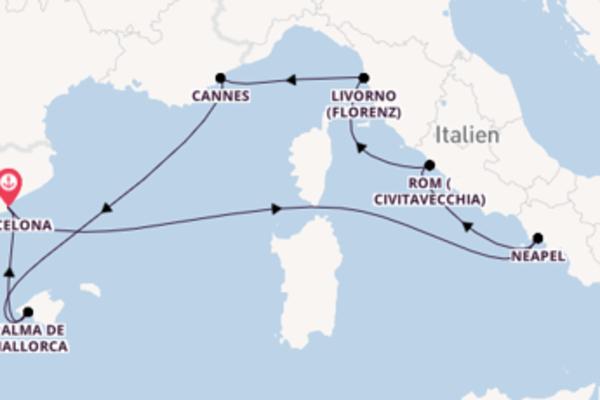 Erleben Sie Livorno auf der Norwegian Epic