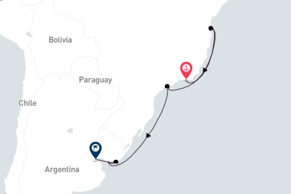 Rio de Janeiro to Buenos Aires 10-Day Trip