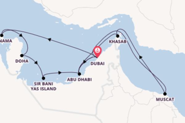 Sailing from Dubai via Manama