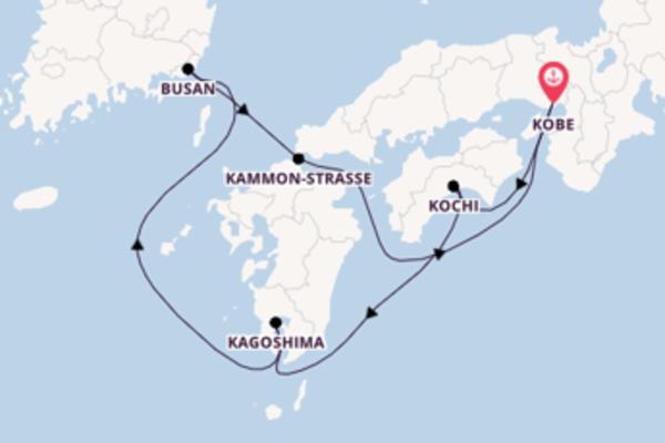 6-tägige Kreuzfahrt bis Kobe