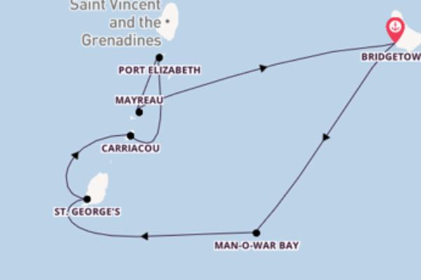 7-daagse cruise vanaf Bridgetown