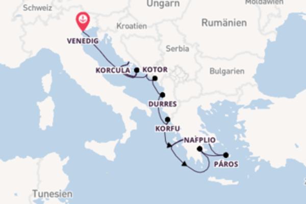 13-tägige Kreuzfahrt ab Venedig