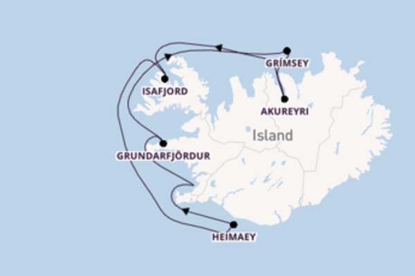 Fantastische Kreuzfahrt über Isafjord ab Reykjavik