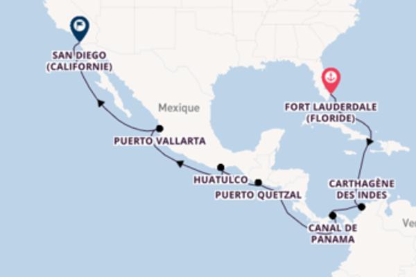 Croisière de 15 jours vers San Diego (Californie) avec Holland America Line