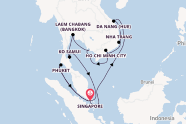 Voyage with Princess Cruises from Singapore
