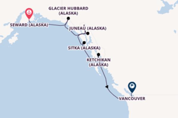 8 jours de navigation à bord du bateau Silver Muse vers Vancouver