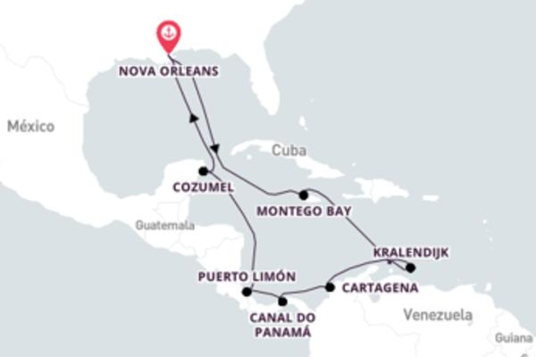 Atravesse o Canal do Panamá com o Carnival Glory