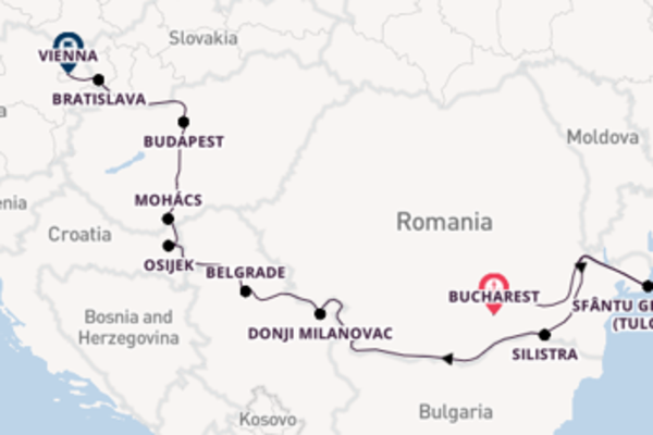 Vibrant cruise from Bucharest with Scenic