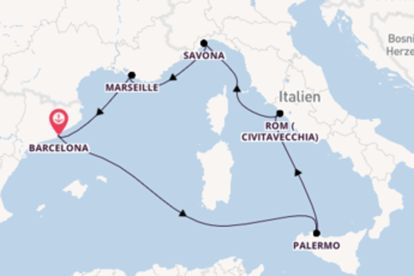 7 Tage auf der Costa Toscana verbringen