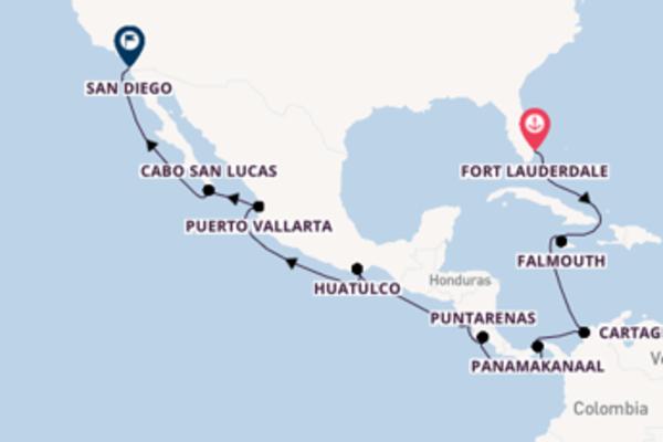 Verken Fort Lauderdale, Puntarenas en San Diego