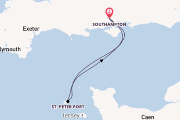 In 3 Tagen nach Southampton über St. Peter Port
