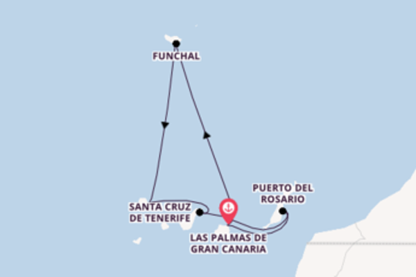 8-tägige Kreuzfahrt ab Las Palmas de Gran Canaria (Canary Islands)