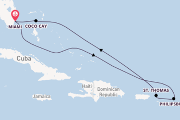 8daagse cruise met de Symphony of the Seas vanuit Miami