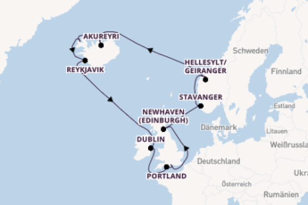 15-tägige Kreuzfahrt ab Southampton
