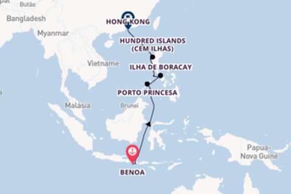 Emocionante viagem de 17 dias até Hong Kong