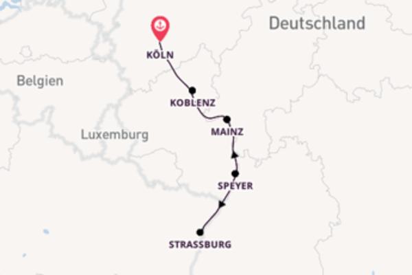 Wundervolle Kreuzfahrt über Speyer, Deutschland ab Köln, Deutschland