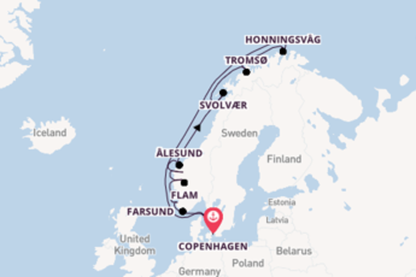 Trip from Copenhagen with the Seabourn Sojourn