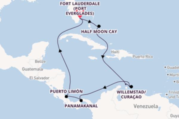 Fort Lauderdale (Port Everglades) und Half Moon Cay entdecken