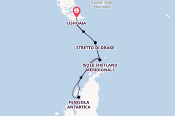 Fare rotta verso Isole Shetland Meridionali a bordo di Silver Cloud Expedition
