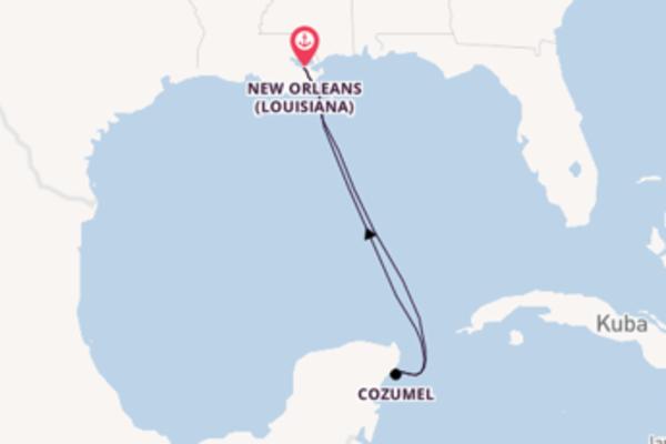 Aufregende Reise ab New Orleans