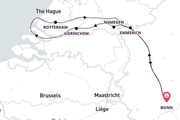 Über den Rhein ins Land der Windmühlen