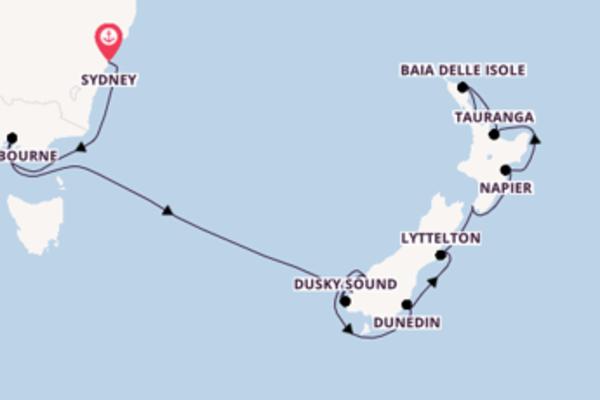 Panoramica crociera verso Auckland