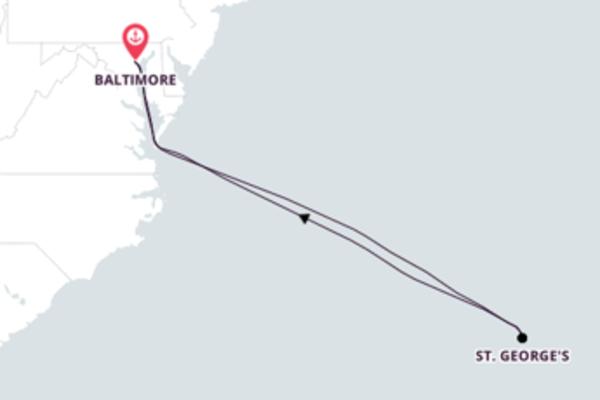 Baltimore e Bermudas em 8 dias