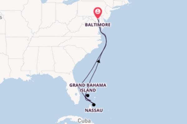 Grand Bahama Island et une envoutante croisière depuis Baltimore