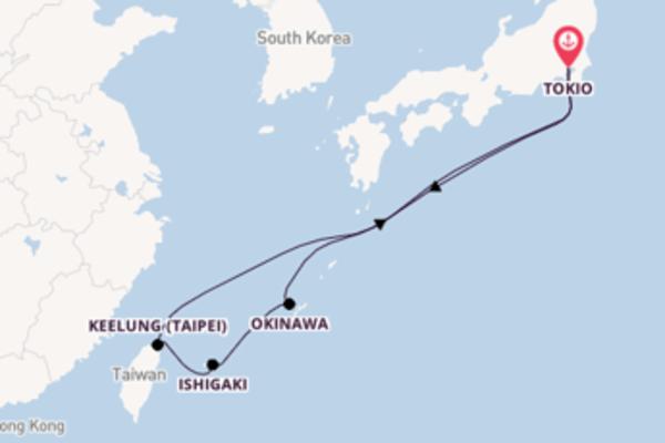 Maak een droomcruise naar Okinawa