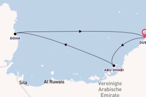 8-tägige Kreuzfahrt ab Dubai
