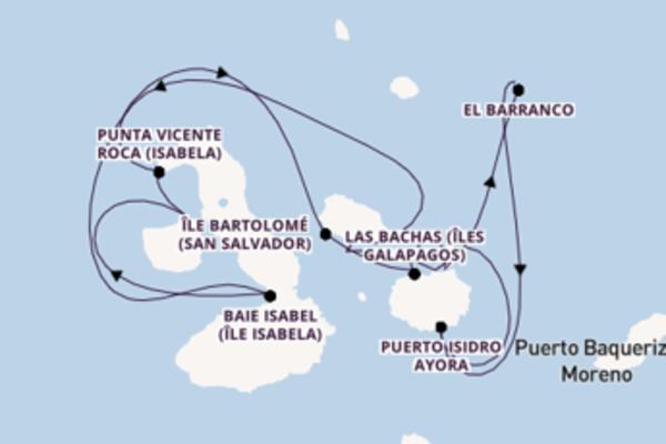 Agréable balade de 8 jours au départ de Baltra, Îles Galapagòs