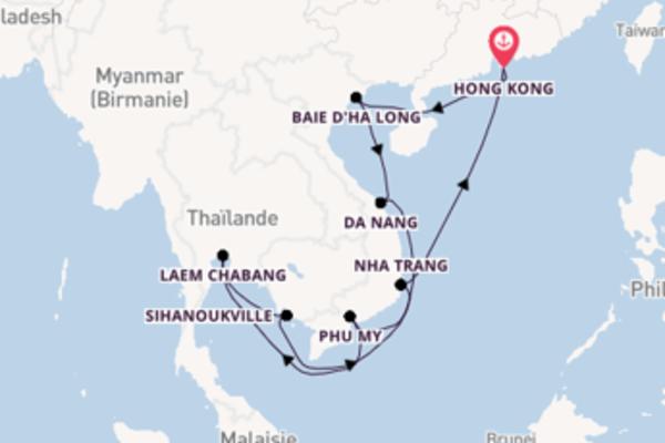 15 jours pour découvrir Baie d'Ha Long à bord du bateau Noordam