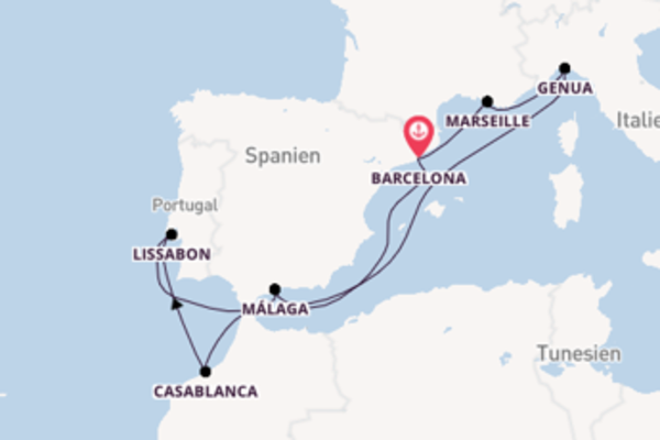 In 10 Tagen nach Barcelona
