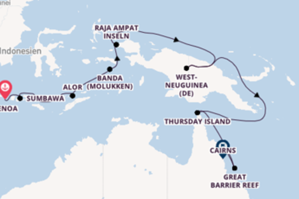 Unterwegs auf Australasiens Gewässern