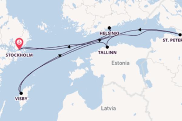 Vaar langs het culturele Visby
