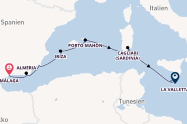 Von Malaga bis Valletta
