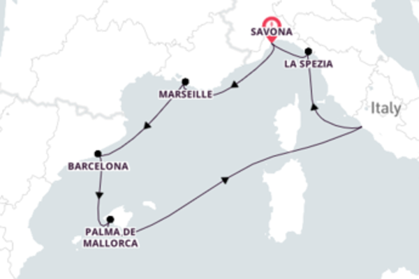 Sensational Palma de Mallorca 8-Day Cruise