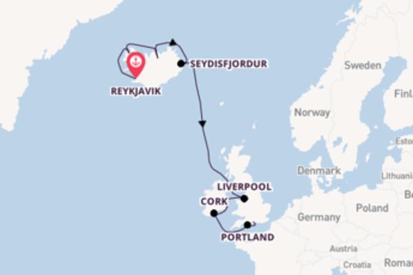 Cruising to Southampton (London) from Reykjavik