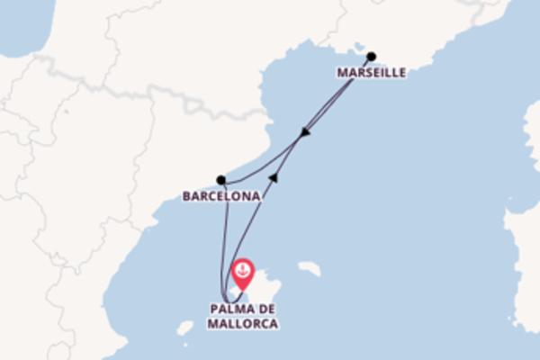 5-daagse reis aan boord van de AIDAbella